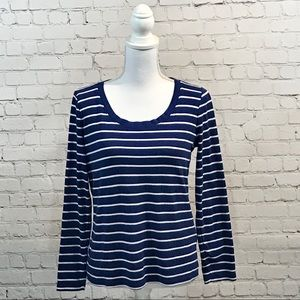 LAUREN Ralph Lauren long sleeve top blue sz large